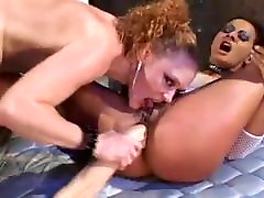 Hot, Painful 3 Way Anal With Cum Swapping