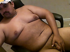 Playing With Limp Cock On Computer