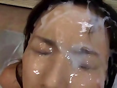 Milf milking cock like a cow Blowjob with cumshot