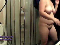 MIlf Wife Strips and dresses in lace panties and dress