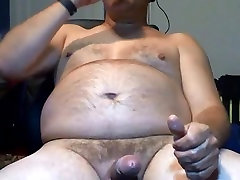 Hot daddy drinking his cum
