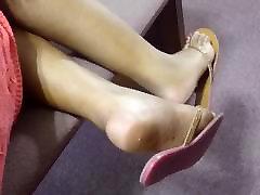 My Friend&039;s Candid Beautiful Ebony Feet at Church 5