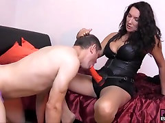 Sissy fucked in ass for wearing Strapon Jane sexy panties