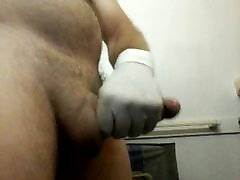 Masturbating with Latex free gloves
