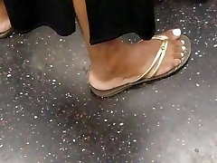 Candid ebony feet white toe nails pt1