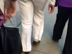 Big booty milf in white pants 2