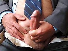 Mature Daddy Cumshot at the Office