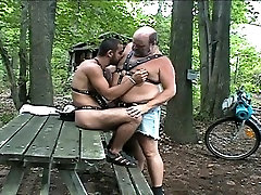 Daddy Bear in the woods