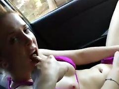 Hottie Masturbating To Intense Orgasm in Car