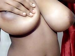 Heaven shows her DDD ebony tits