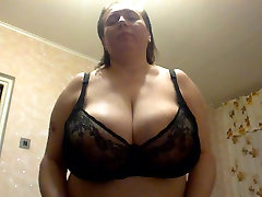 Mature natural huge boobs from Russia!