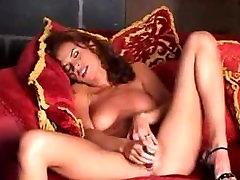 Wanda Curtis Strip Masturbation With Dildo