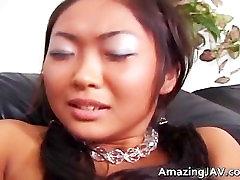 Cute asian lesbian threesome video part4