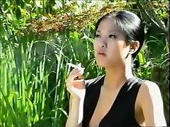 Another smoking asian girl