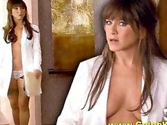Jennifer Aniston Nude Topless Sexy and Upskirt
