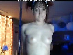 Young Brunette Showing Off Her Small Tits And Pussy