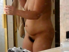 Asian Wife Getting Out of Shower Full Nude