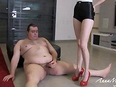 mistress anna humiliate her fat slave