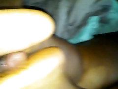 first footjob ebony red toes cumshot