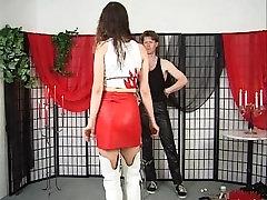 Brunette whore enjoys pain