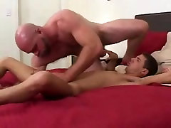 Hot bald daddy with twink