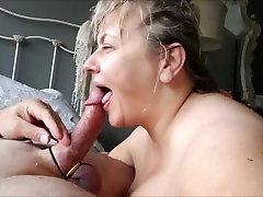 Fucking her Big BBW Mature Breasts