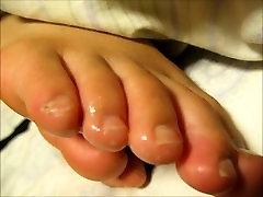 Sleeping friend feet