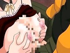 Hentai maid tit fucks and humps her master