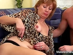 Groping Granny Wants To Gobble Cock