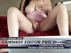 Hot Busty MILF Masturbating To Porn