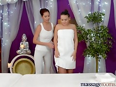 Massage Rooms Beautiful Young Hungarian has her first lesbian orgasm