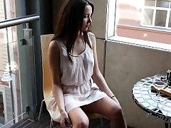 Patricia Naked on My Balcony in Downtown Riga Masturbating in Public