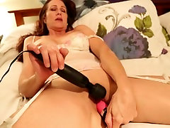 Gorgeous mature masturbates after a long day.