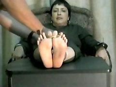 mature latin lady foot torture