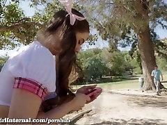 Teen Schoolgirl Squeals As She Gets Creampied!