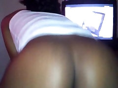 Hot ebony chick rides dick the way its meant to be rode