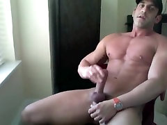 Hard Muscle Solo at Home Jerk off & cum