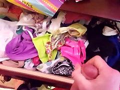 Cumming in her panty drawer