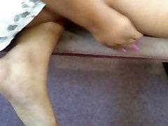 Friends Candid Beautiful Ebony Feet at Church