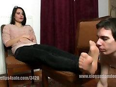 nylon feet sniff dom