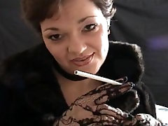 Smoking fetish angel teach how to smoke