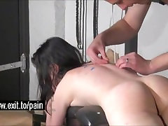 Brutal BDSM with Oral Piercings and Spanking