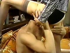 Retro Classic - Black Satin Panty Action