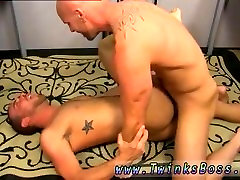 Cock gay men sex boy and black big butt men On his back and taking it