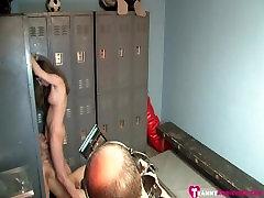 bts cheerleader tranny aly sinclair dominates the jock football player