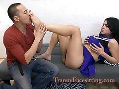 TS Isabella Star Tranny Cheerleader Ass Fucking and Cock Tgirl Cock Worship