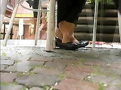 Hot Nyloned In-And-Out Girly Dipping 1