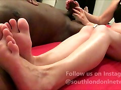 Handjob after sex from English Rose beauty