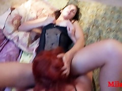 Big Lips. Party with friends. Dirty Lesbian Games. Drink CUM