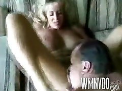 RETRO Amateur blonde MILF takes it in all holes